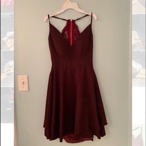 Women's Size 4 Burgundy Lace Back Dress